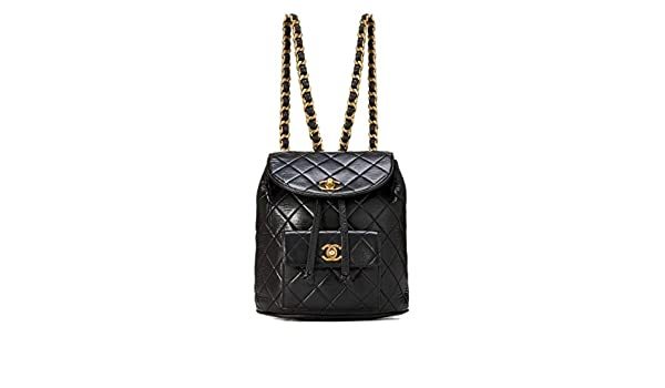 7de7f01bef05 Amazon.com: CHANEL Black Quilted Lambskin Backpack (Pre-Owned): Shoes