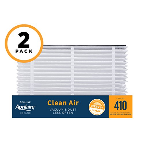 Aprilaire 410 Air Filter for Air Purifier Models 1410, 1610, 2410, 3410, 4400; Pack of 2