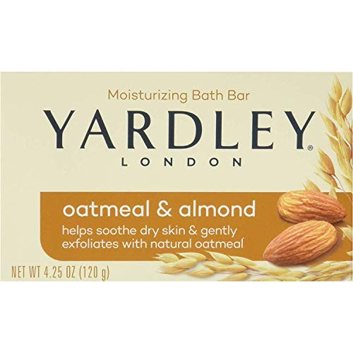 (Yardley London Moisturizing Bar Oatmeal & Almond with Natural Oats 4.25 oz (Pack of 6))