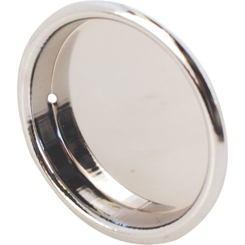 N 6868 Round Bypass Door Pull Handle, 2-Inch, Chrome Plated,(Pack of 2) ()