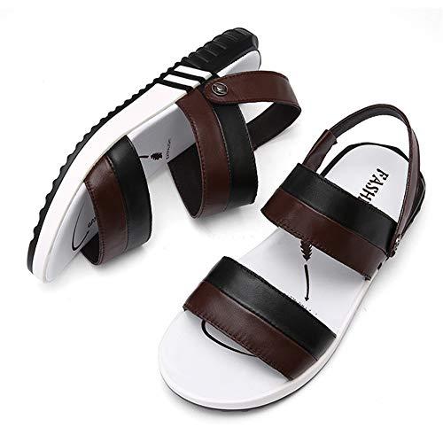 Sandali CM Brown Sandali 23 Beach pantofole Uomo 5 Scarpe Outdoor Casual Traspiranti spiaggia Black Casual 28 da Wagsiyi Scarpe E 5 Da Pantofole BzxTWqq