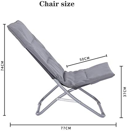 AJH Small Portable Office Relax Folding Lounger Chair Lunch Break Balcony Garden Beach Sunshine Lazy Thickening Cotton Pad