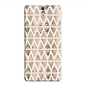 Cover It Up - Stone Triangles Pink Xperia C5 Ultra Hard case