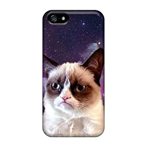 High Impact Dirt/shock Proof Cases Covers For Iphone 5/5s (grumpy Cat Space)