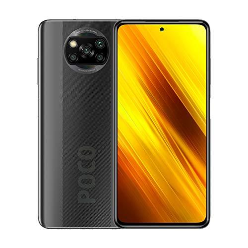 "Xiaomi Poco X3 NFC, 6+64GB, 6.67"" FHD + DotDisplay, Large 5160mAh Battery with 64MP Quad Camera, Snapdragon 732G, Sim Free Smartphone, UK Version + 2 Year UK Warranty- Shadow Grey"
