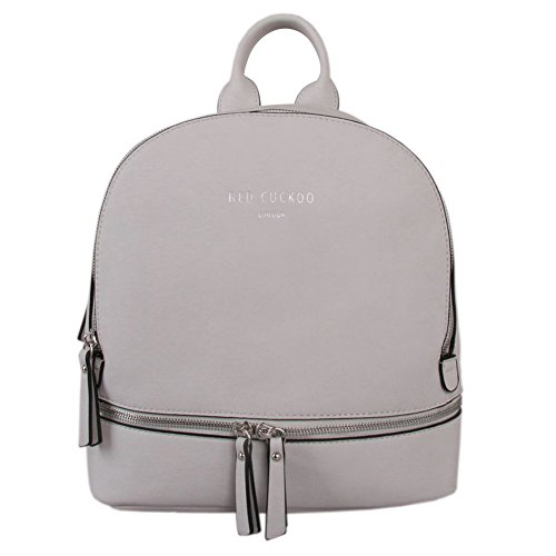 Cuckoo Womens Backpack Backpack Travel Red Rucksack Rucksack Womens Silver Bag Travel Handbag qHw1vy7A