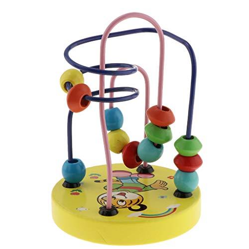 B Baosity ウッド製 形状と色 認知おもちゃ ビーズ迷路 ローラーコースター 知育玩具 4色選ぶ - #1