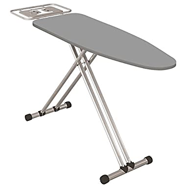 Econat Adjustable Foot Caps Adjustable Height Extra Wide Ironing Board in Grey