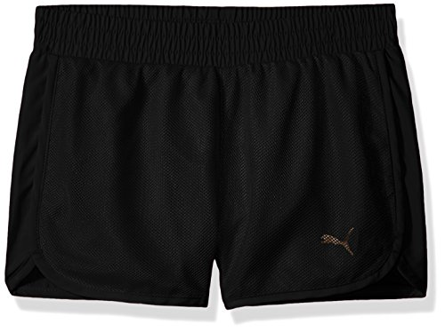 PUMA Girls Mesh Overlay Shorts