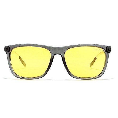 Gafas de Sol Aluminio C6 Visión Gafas Hombre De Sol De Hombre para Gafas C1 Color De De Y Magnesio Gafas Sol para LBY Cuadradas HD Nocturna Polarizadas qwXRa6nE