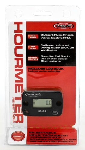 Hardline Products HR-8067-2 Re-Settable Hour Meter with (Hardline Products Black Letter)