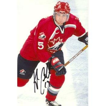 (Kyle Calder Signed Photograph - Team Canada 4x6 - Autographed NHL)