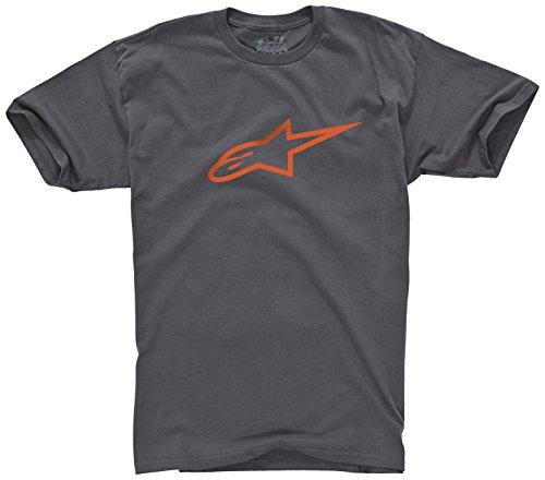 [ALPINESTARS Men's Ageless T-Shirt, Charcoal/Orange, Medium] (Alpinestars Apparel)