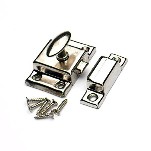 Bales Catch Mortice Latch 13Mm 1//2 Roller Ball Nickle Plated Screws Pk Of 2