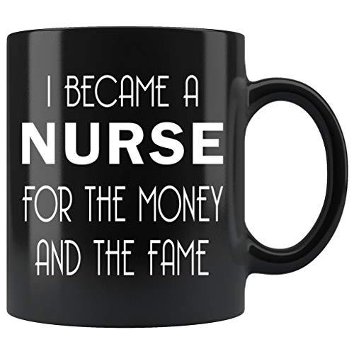 ArtsyMod I BECAME A NURSE Funny Coffee Mug, Perfect Humorous Nurses Gift, Professional Work Anniversary, Birthday Gifts, Premium Durable Black Ceramic Mug (11oz.)
