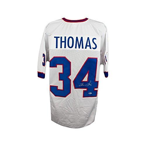 Thurman Thomas Autographed Buffalo Bills Custom White Football Jersey - BAS COA