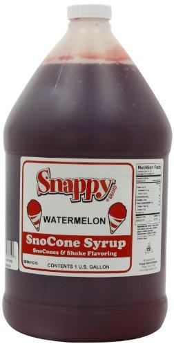 (Snappy Popcorn Snappy Snow Conce Syrup 1 Gallon, Watermelon, 11 Pound)