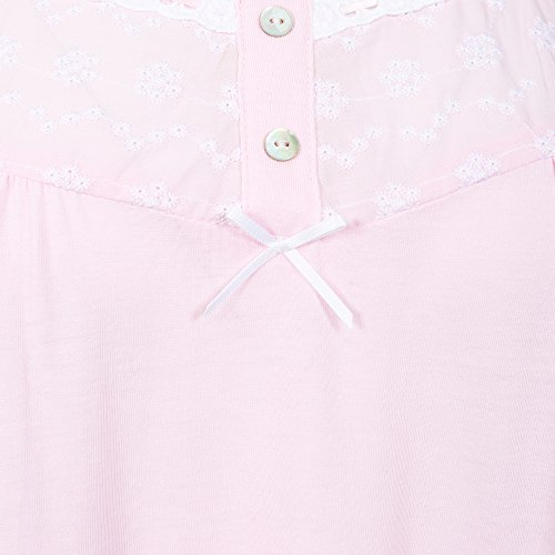 Suzy & Me Damen Nachthemd rosa rose