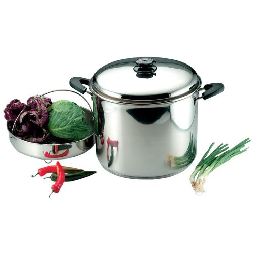 Precise Heat 30-Quart''Waterless'' Stockpot with Steamer Basket