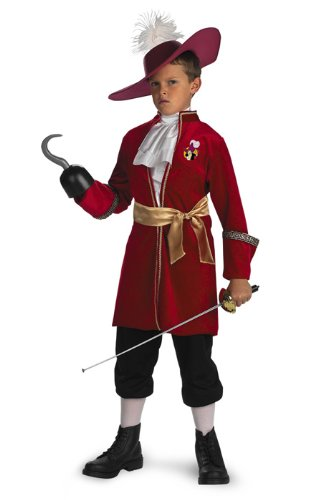 Disney Halloween Costumes For Boys (Captain Hook - Size: Child M(7-8))