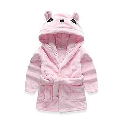 Toddlers/kids Hooded Robe Soft Fleece Bathrobe Boys Girls Pajamas Baby Sleepwear
