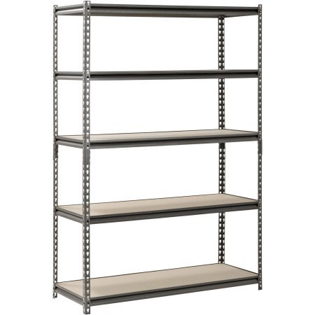 Muscle Rack 5-Shelf Steel Shelving, Silver-Vein (18