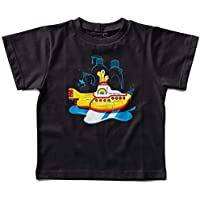 Camiseta Infantil Yellow Submarine Banho, Let's Rock Baby, Preto