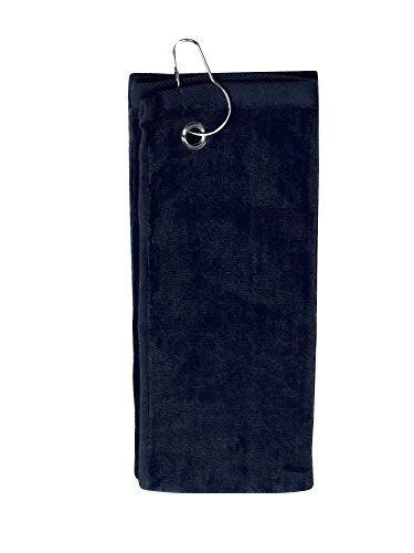 Simplicity 100% Cotton Terry Sports Golf Towel with Grommet and (Hanging Dish Warmer)