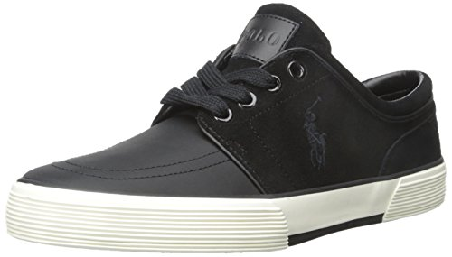 Polo Ralph Lauren Men's Faxon Low Fashion Sneaker, Black/Black, 7.5 - Uk Lauren Polo Ralph