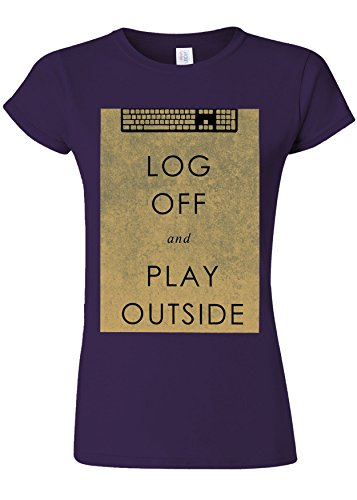 人質ゆり湾Log Off And Play Outside Novelty White Women T Shirt Top