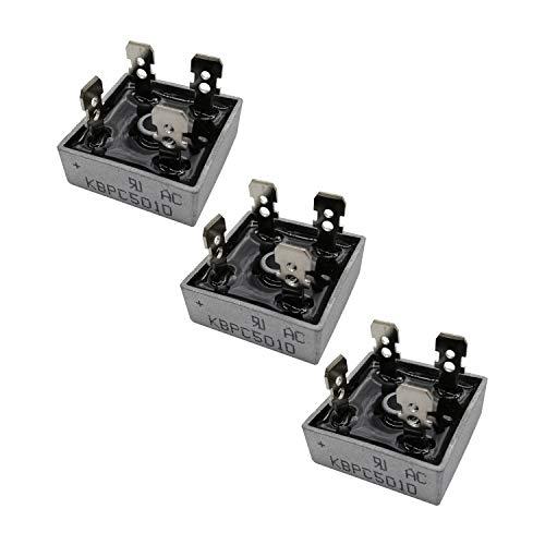 (Pack of 3) KBPC5010 Silicon Bridge Rectifier Diode 50A 1000V KBPC Single Phase, Full Wave 50 Amp 1000 Volt