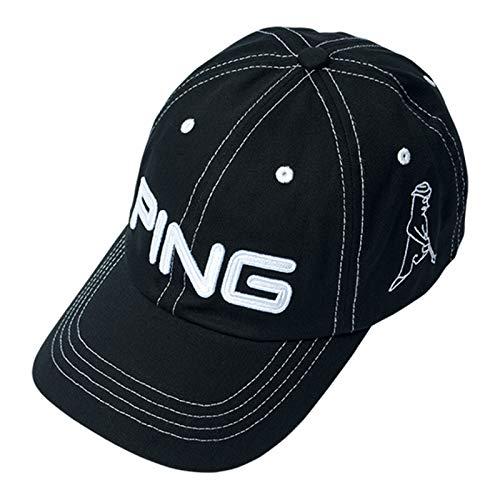 PING ピン コットン アンストラクチャー 6パネル キャップ Mr.PING Black/White 33956 日本正規品