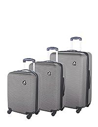 Atlantic Tribute II Hardside 3 Piece Spinner Luggage Set, Silver