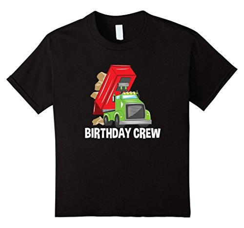 Dump Truck Birthday (Kids Dump Truck Birthday Crew T-Shirt Construction Birthday Party 6 Black)
