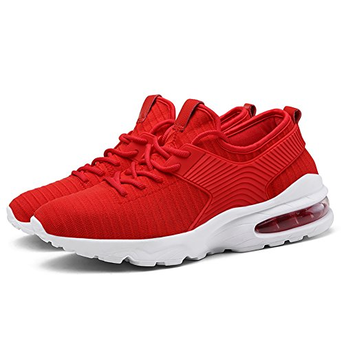 Elaphurus Mens Running Athletic Sneakers Air Cushion Trainers Fitness Flats Casual Sports Shoes 1-red REPBP2x