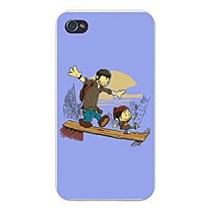 "Apple iPhone Custom Case 5 / 5S White Plastic Snap On - ""Just the 2 of Us"" Video Game Parody"