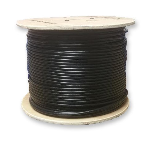 LinkedPro 1000' Weatherproof Waterproof UV Rated Direct Burial Gel Filled Network CAT5e Cable W/Solid Copper Conductors 300 Meter Spool by LinkedPro