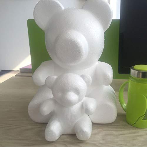 (YuYe-xthriv Foam Bear Modeling Creative DIY Craft Valentine Party Decoration Supplies Gift White)