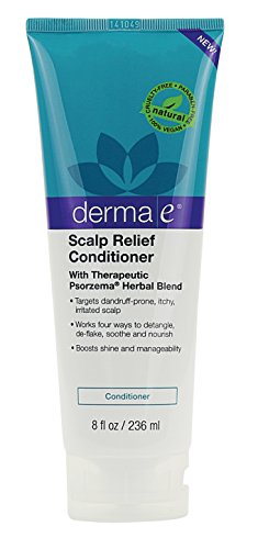Derma E Scalp Relief Conditioner with Psorzema Herbal Blend, 8 Fluid Ounce