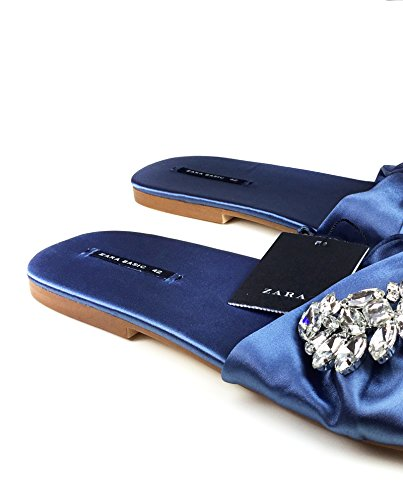 Zara Donna Sandalo basso dettaglio fibbia 6654/201