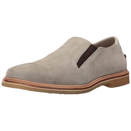 Tommy Bahama Men's Linen Loafer, Grey Suede, 14 D US
