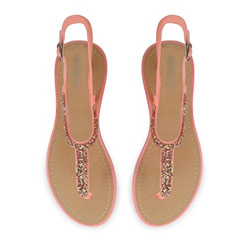 Footwear Sensation - Sandalias para mujer - 821-Pink