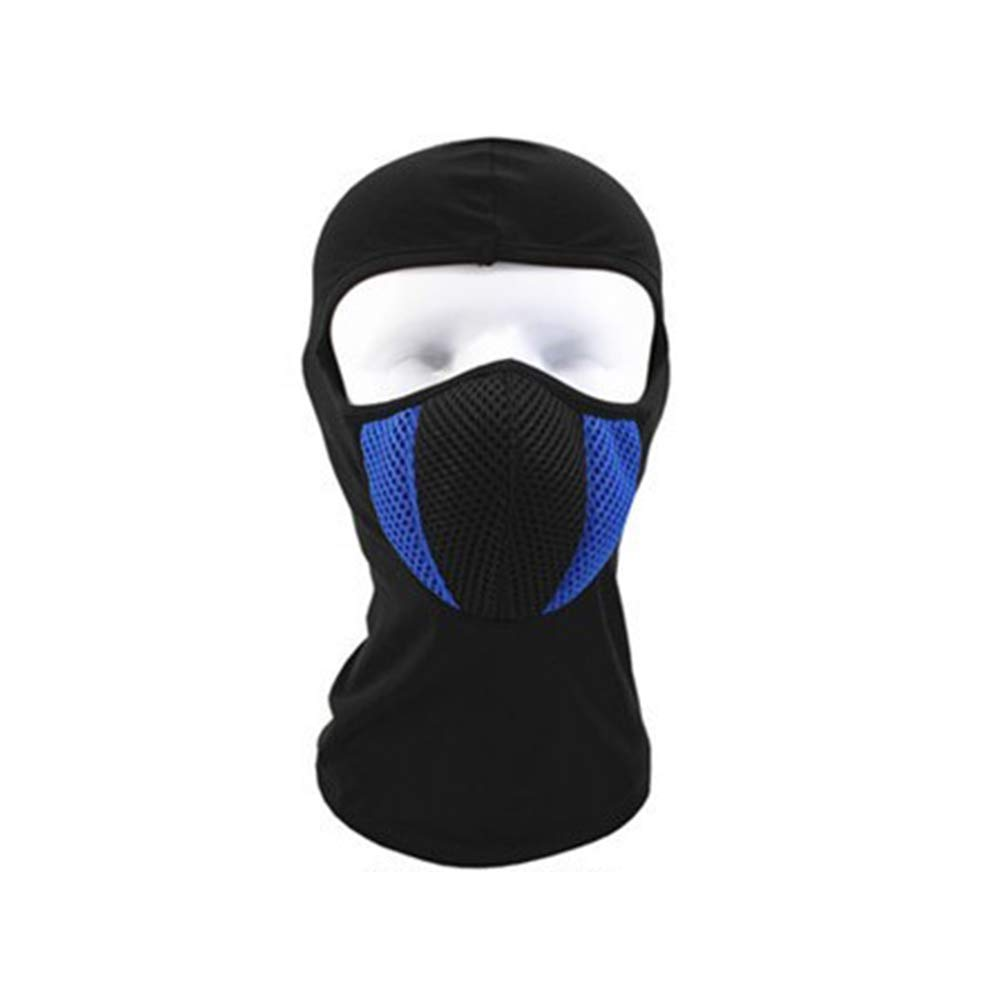 DDG EDMMS Windproof Special Police Mask Cap Durable Cotton Mask Cap Multi-Purpose ski Balaclava Headgear Blue and White Outdoor Sports Products