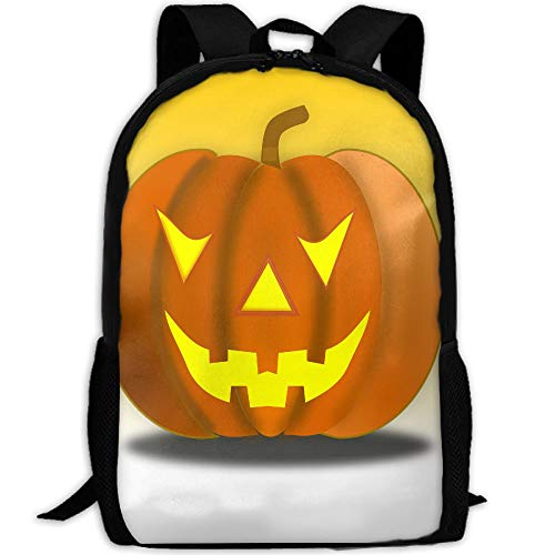 Halloween Pumpkin Smiley Face Adult Outdoor Leisure Sports Backpack and School Backpack