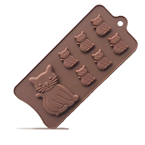 Ice Mold - silicone molds candy chocolate mold cat shape silicon mould for fondant diy ice cube tray cake decorating s k072