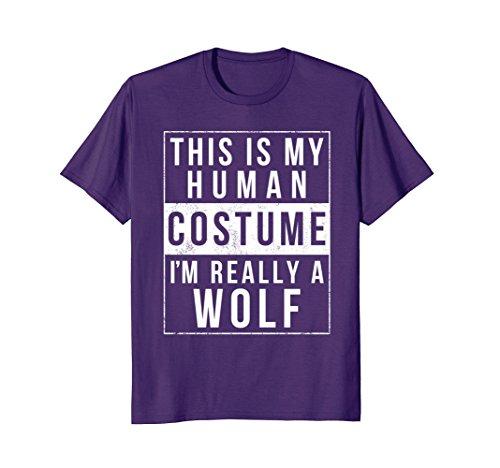 Mens Wolf Halloween Costume Shirt Funny Easy for Kids Men Women 3XL (Top 10 Best Halloween Costume Ideas)
