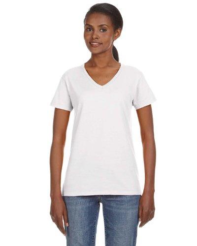 Anvil Ladies Lightweight V-Neck T-Shirt, Large, (Anvil Ladies V-neck Tee)
