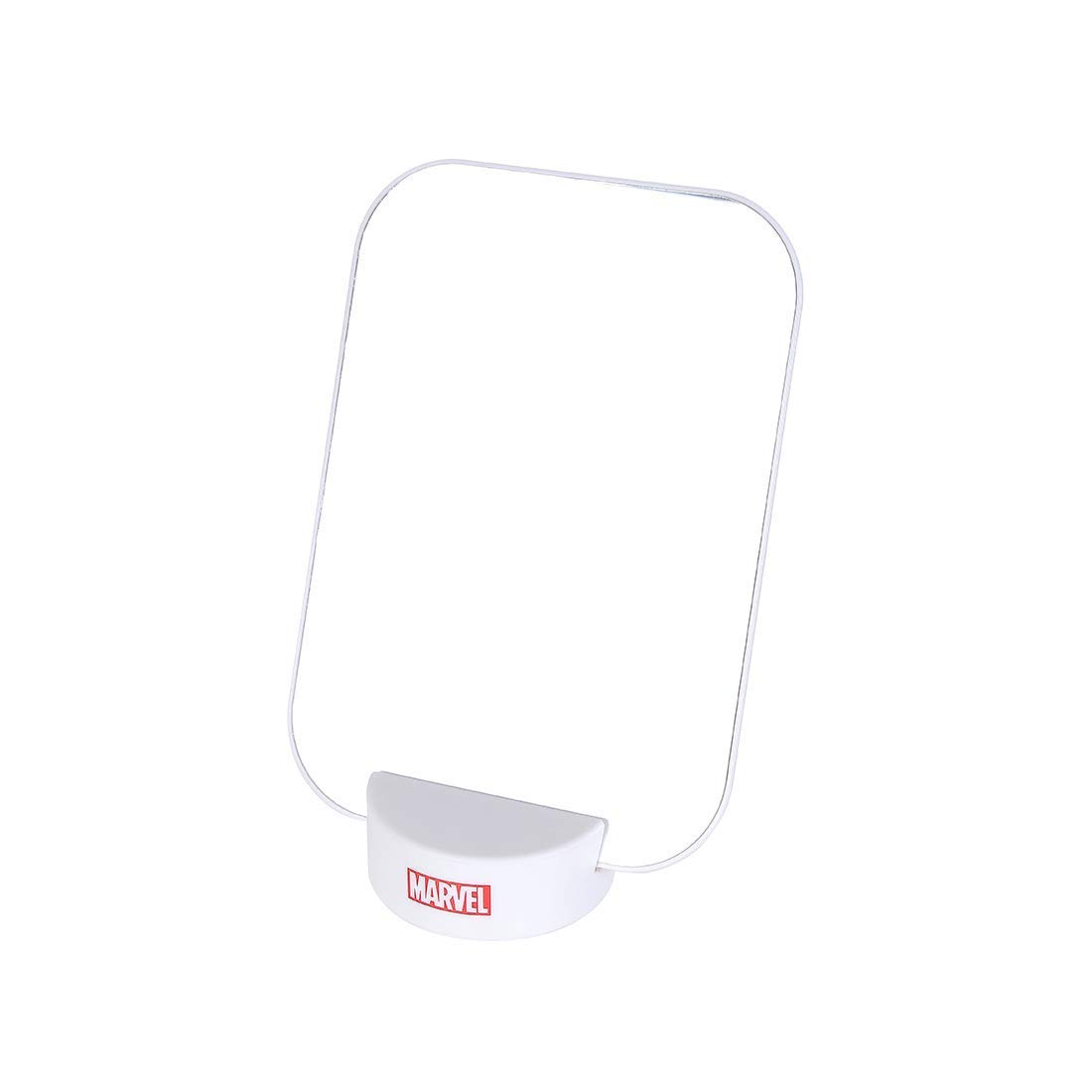 MINISO Marvel Makeup Mirror Table Standing Mirror Portable Desk Mirror with Stand Square Cosmetic Mirror for Bathroom Shower Shaving-White