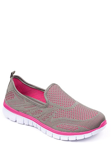 Ladies Cushionwalk Shoe with Memory Foam Insole Grey MCVVuuK3j8