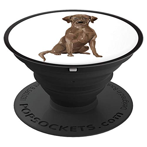 Cute Chocolate Lab Watercolor Art | Dog Lover Gift PACJ0896 - PopSockets Grip and Stand for Phones and Tablets
